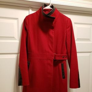 Via Spiga Red Wool Coat